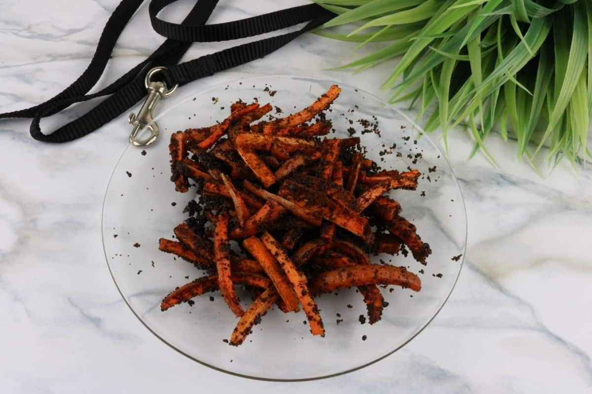 Air Fryer Carrot Liver Dog Treats