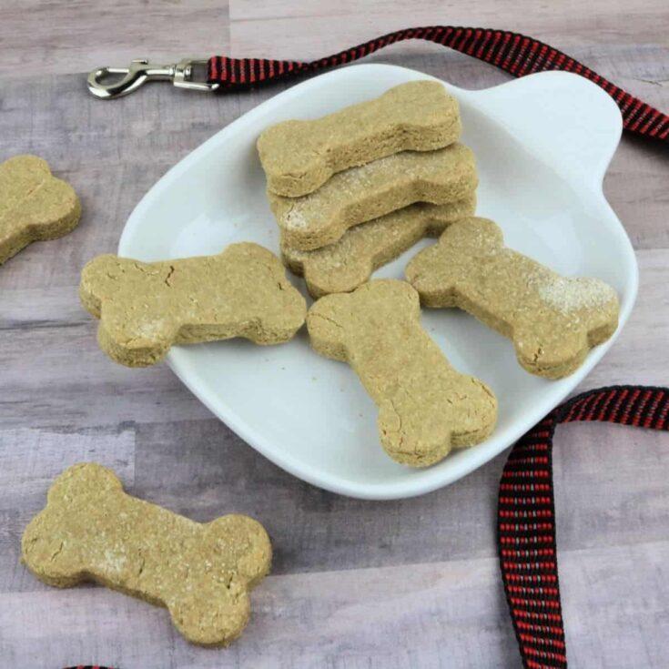 Homemade Peanut Butter Banana Dog Cookies