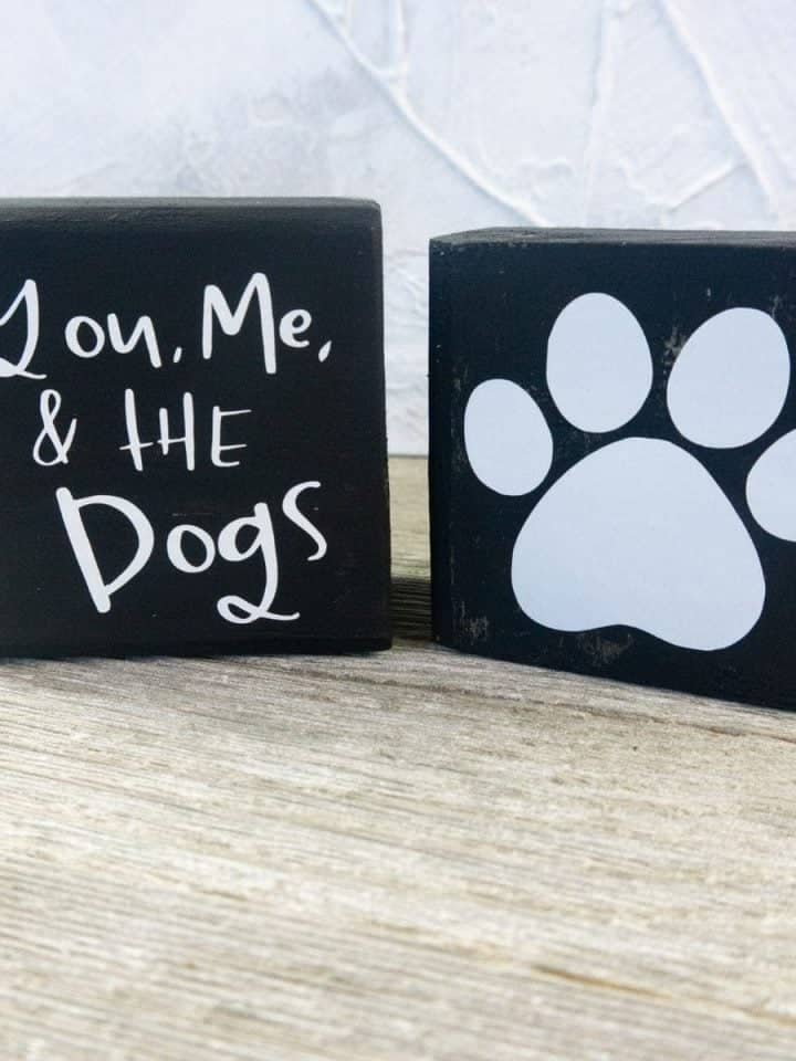 DIY Dog Sign: Super Cute You, Me & the Dog's