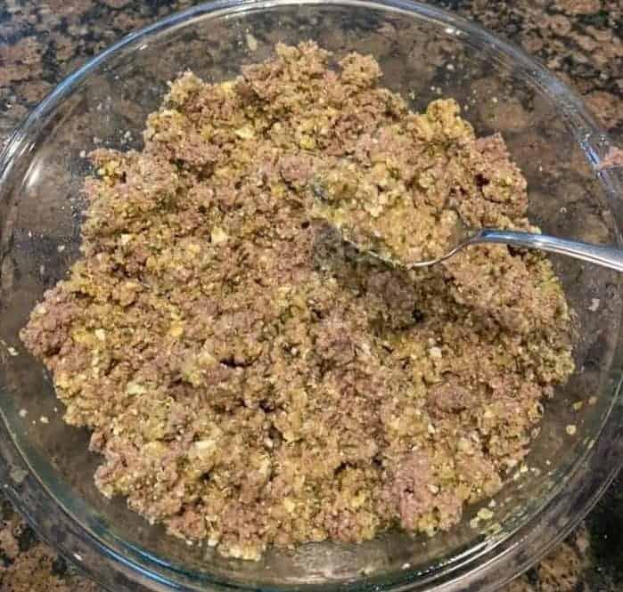 Meaty Veggie Dog Dish