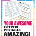 Free Pets Printables Resource Library