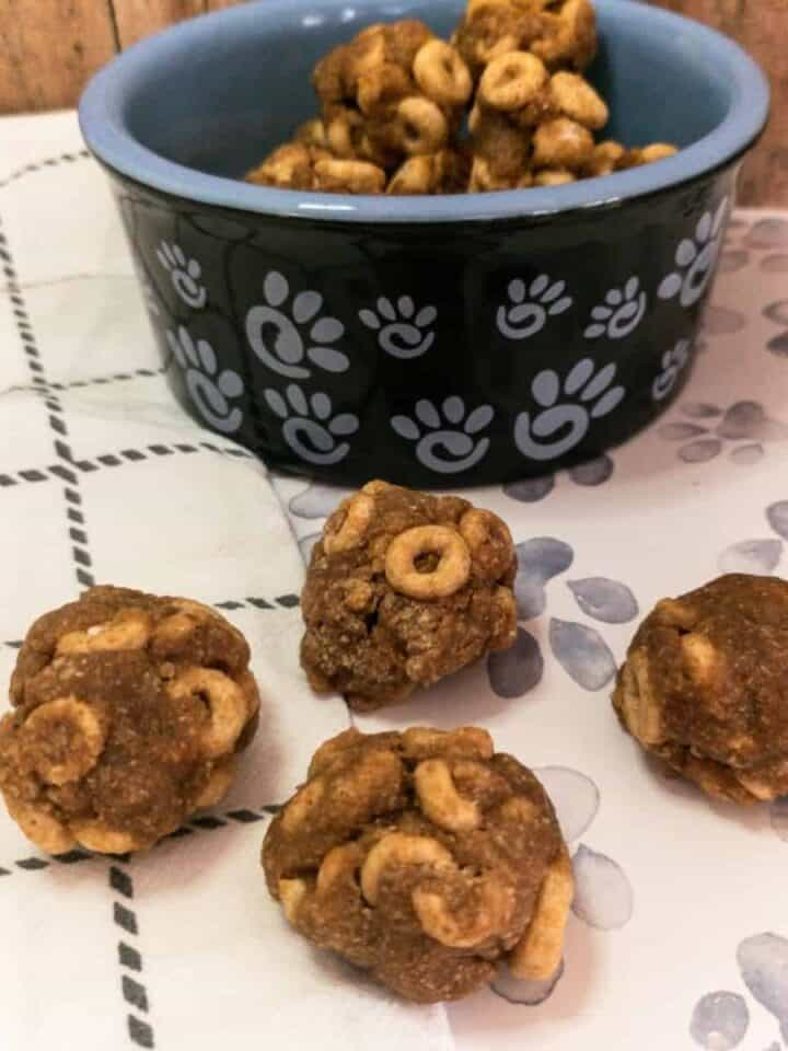 Easy 20 Minute Peanut Butter and Cheerios Dog Treats