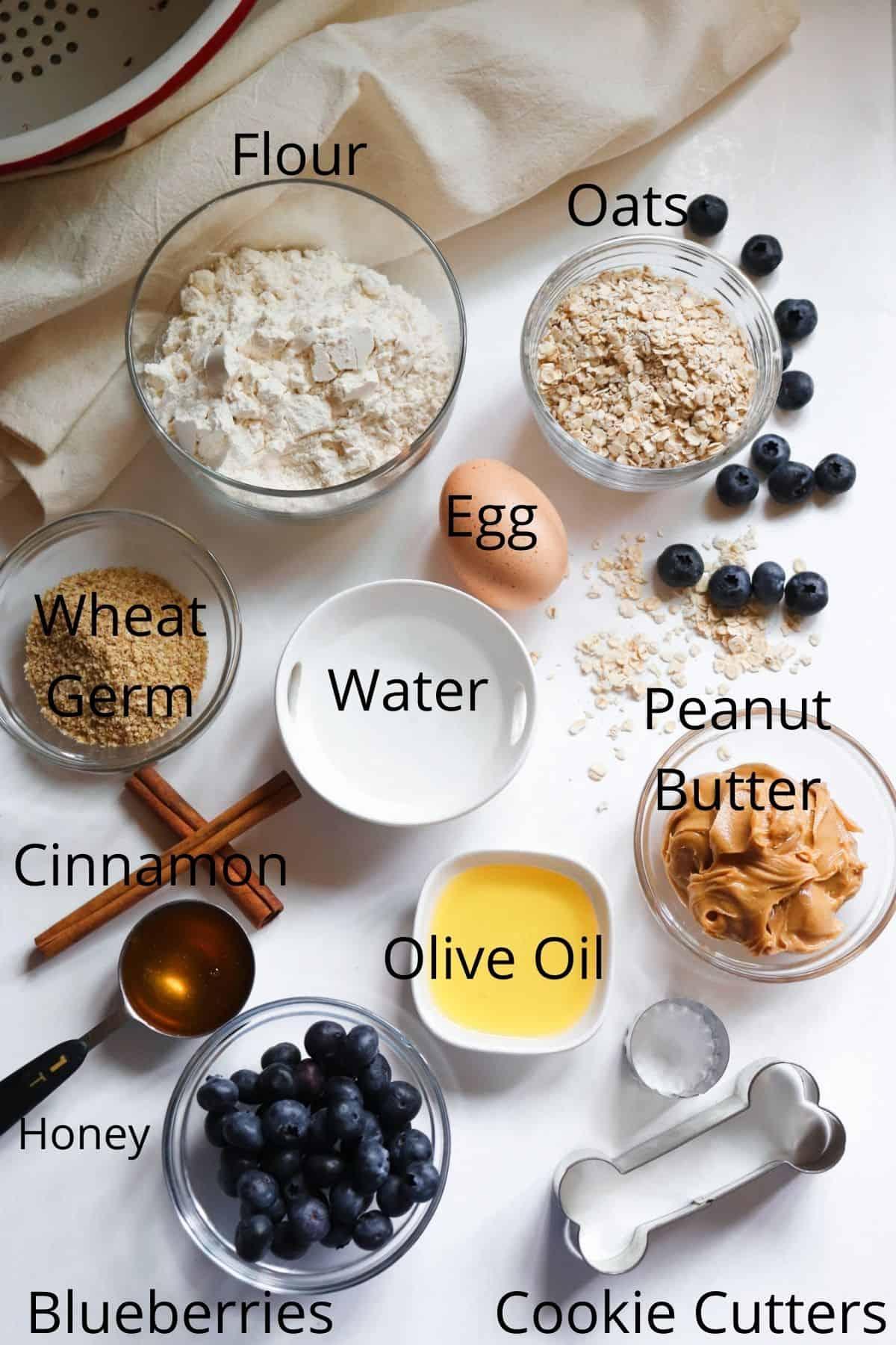Ingredients Peanut Butter Blueberry Dog Treats