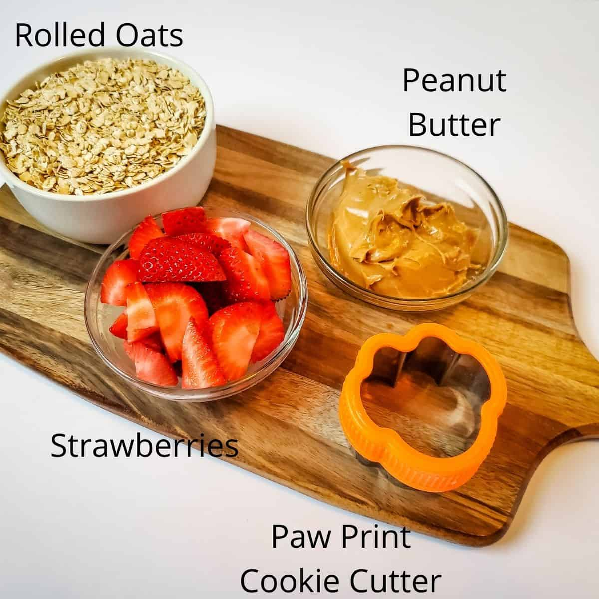 Paw print ingredients