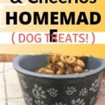 Easy 20 Minute Peanut Butter & Cheerios Dog Treats