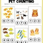 Pet's Activity Printable PIN