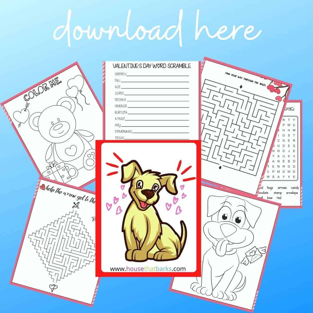 Free Valentine's Day Coloring and Activity Book