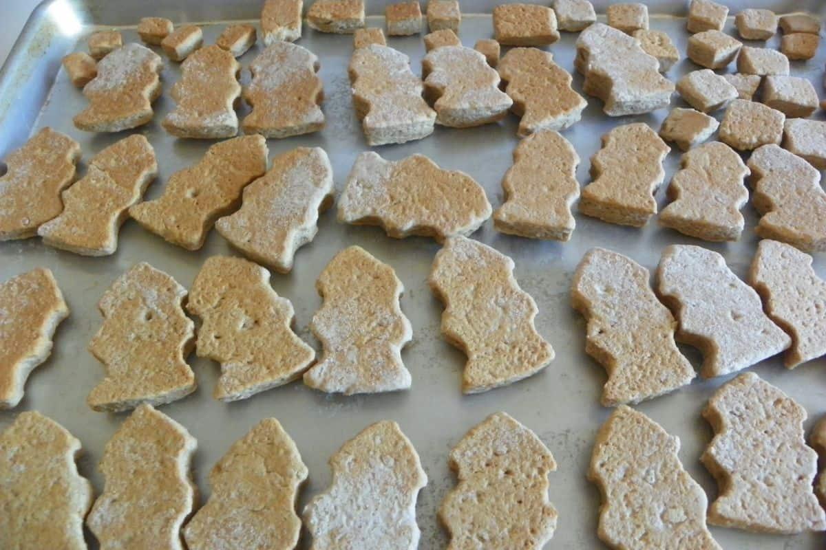 baked graham cracker dog treats