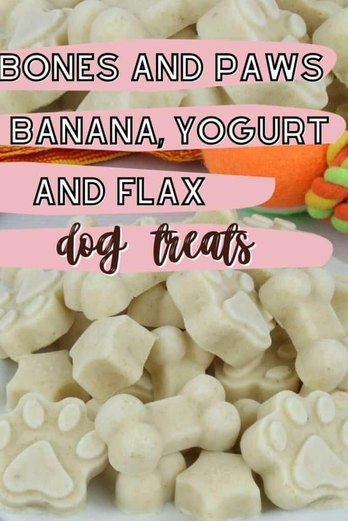 banana, yogurt and flaxseed dog treats