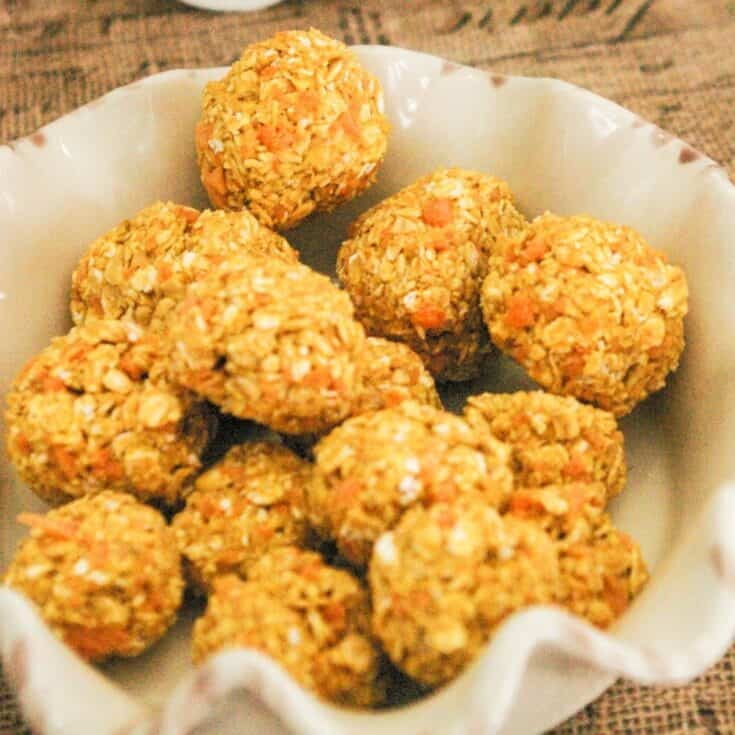 No Bake Carrot and Cheese Homemade Meatballs for Dogs