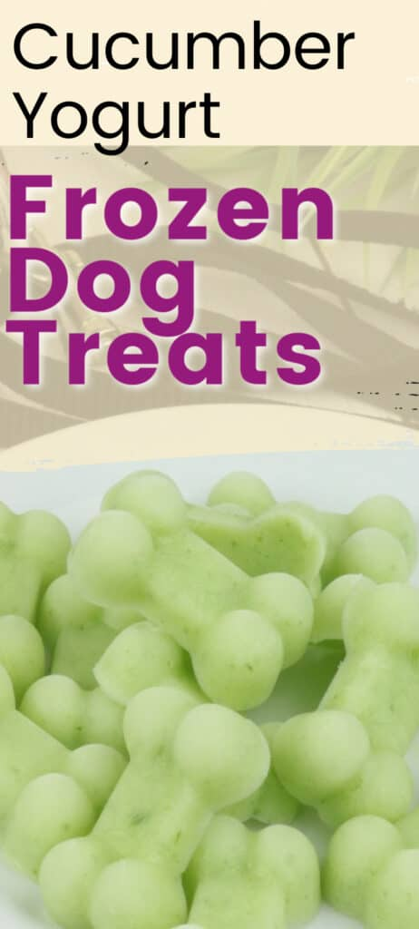 cucumber yogurt dog treats