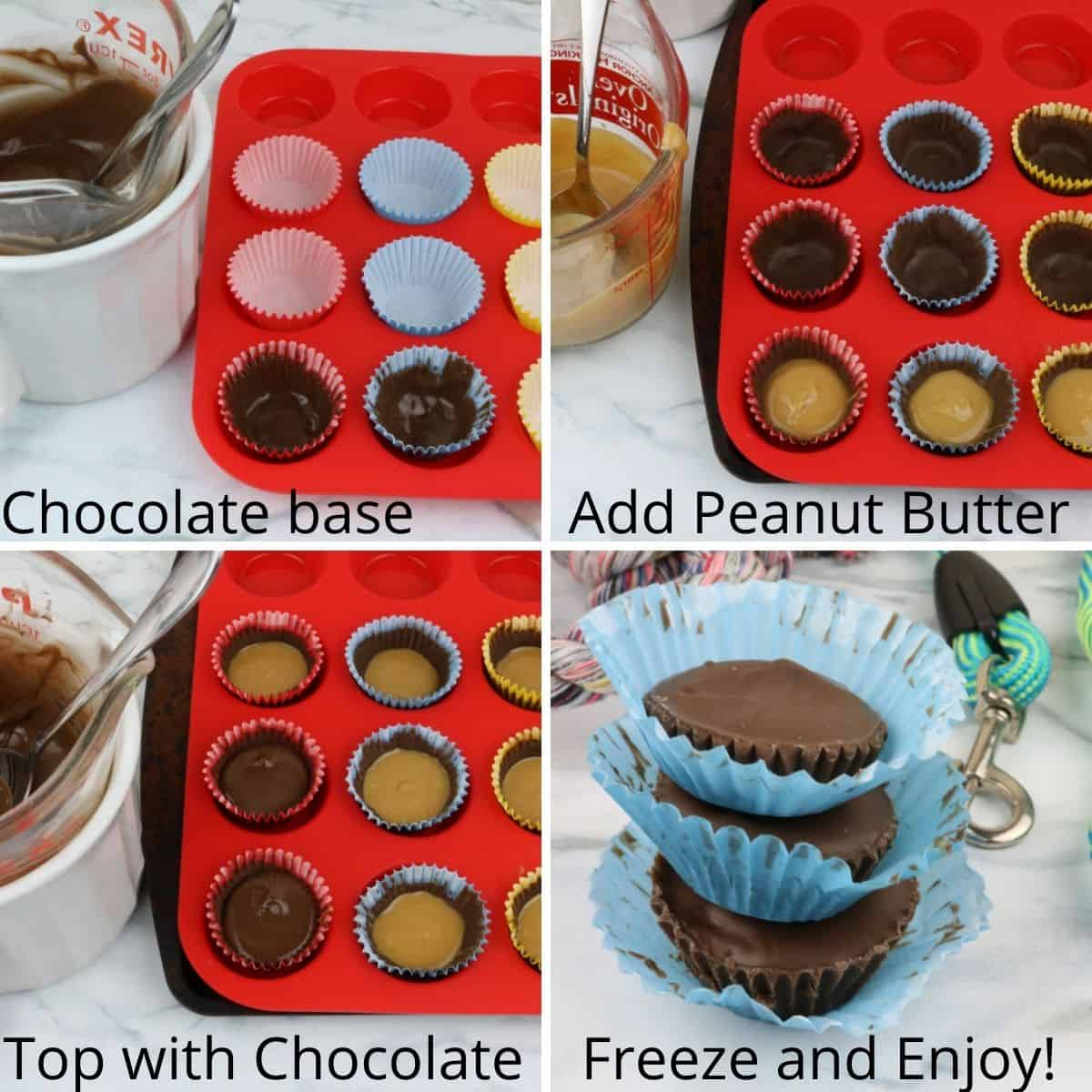 directions peanut butter cups