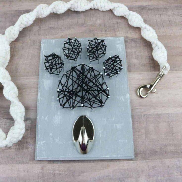 Easy DIY String Art Dog Leash Holder