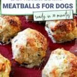 mini meatballs for dogs