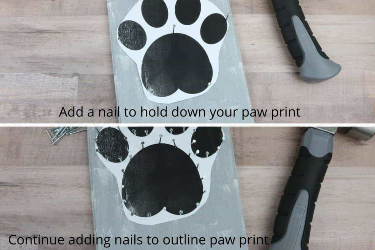 paw print dog leash holder