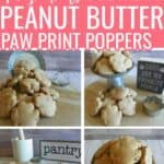 4-Ingredient Peanut Butter Paw Print Poppers