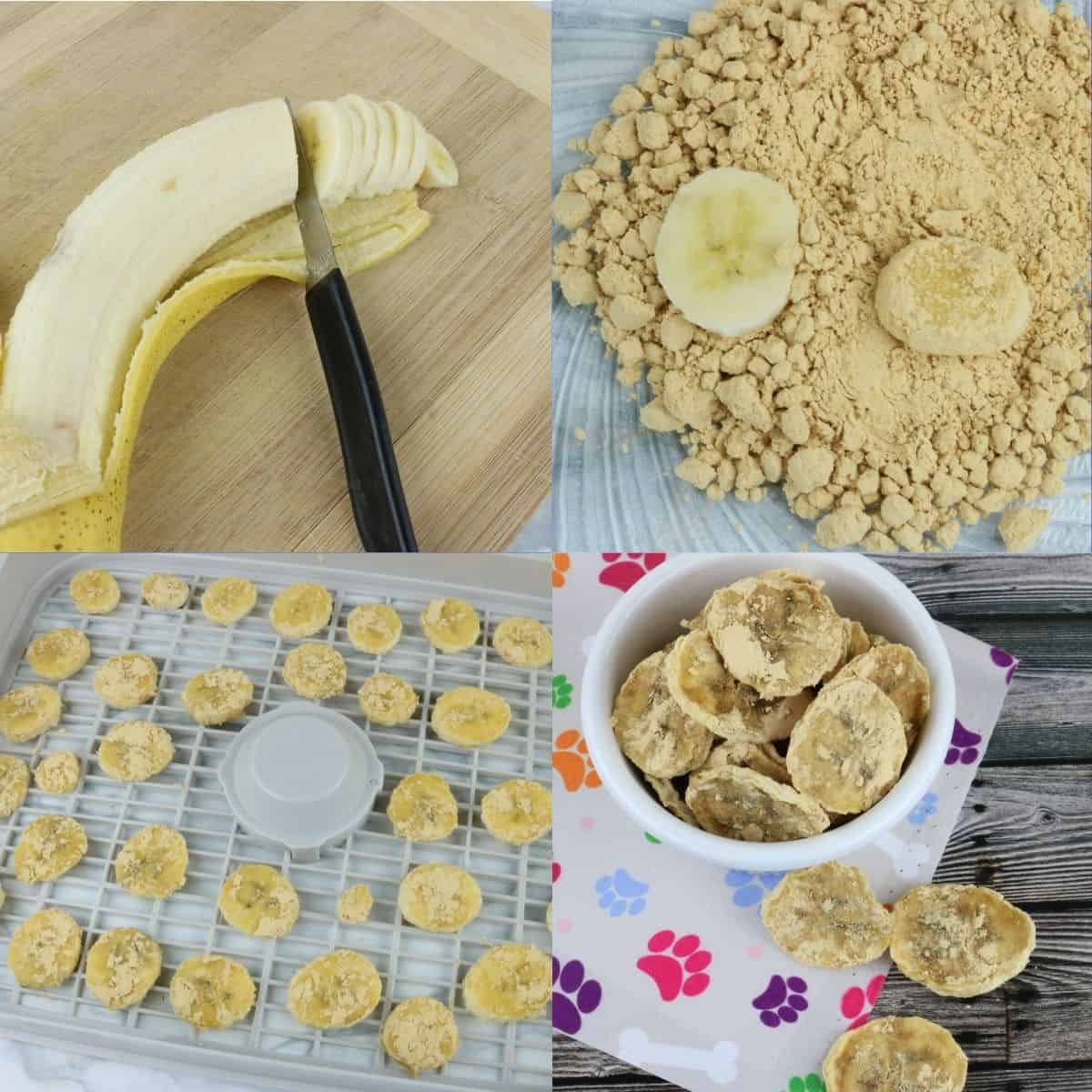 peanut butter and banana dog chips