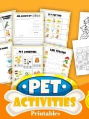 Pet's Activity Printable for Kids