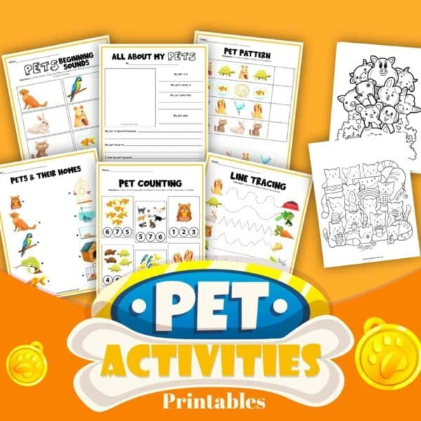 pets activity printable