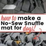 make no-sew snuffle mat
