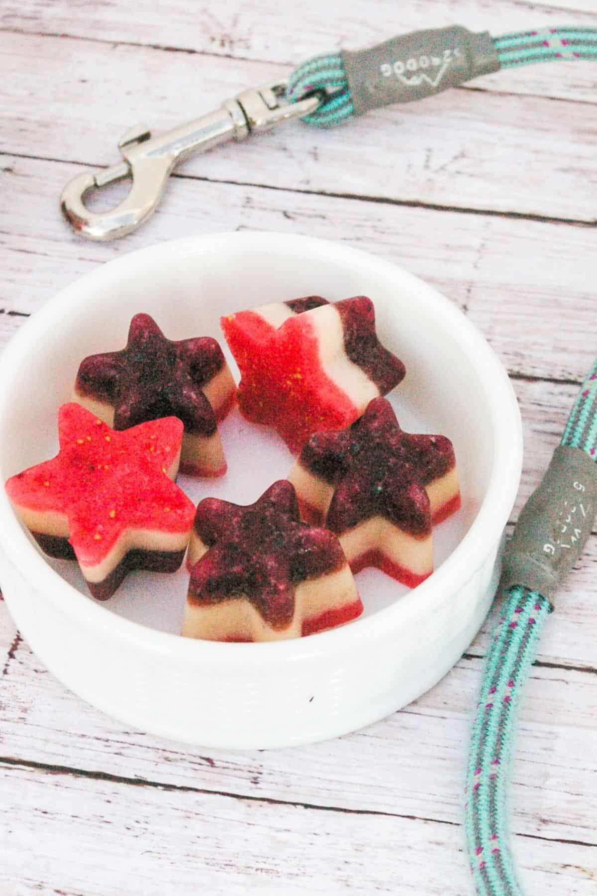 Red, White and Blue Frozen Dog Treats