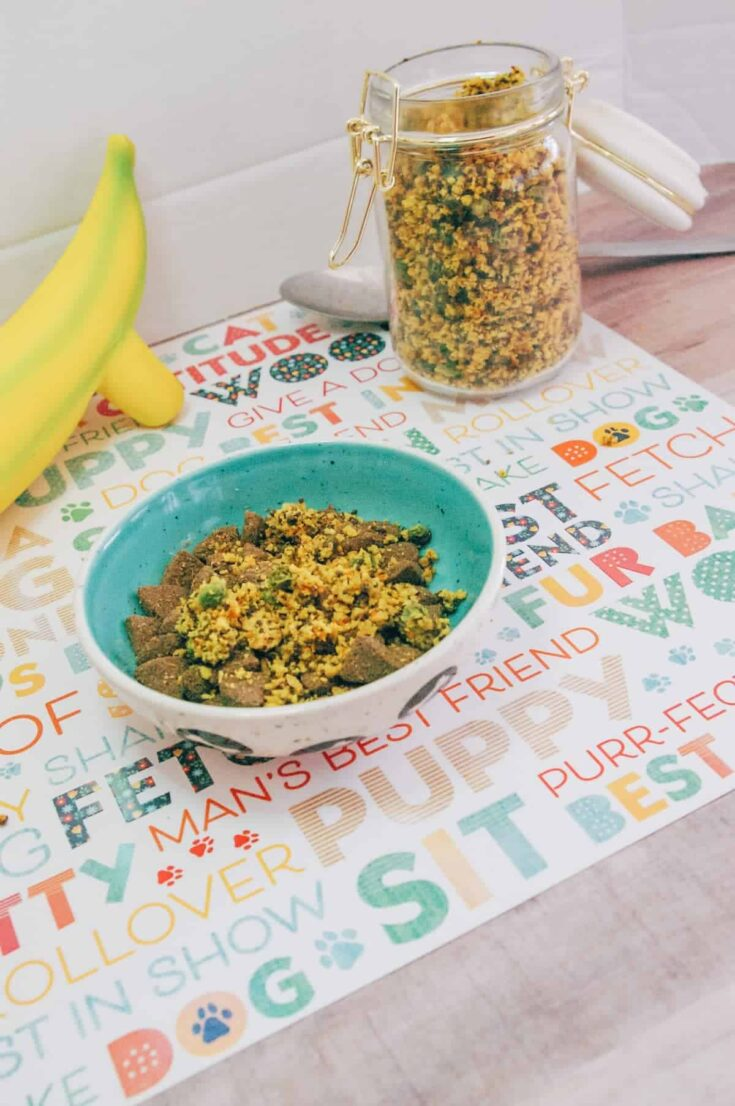Quick and Easy Oat and Vegetable Dog Food Topper